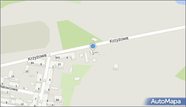 Bytom, Krzyżowa, 2, mapa Bytomia