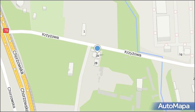 Bytom, Krzyżowa, 2A, mapa Bytomia