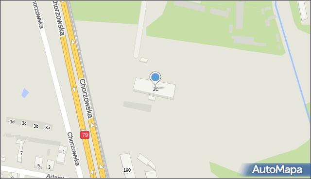 Bytom, Krzyżowa, 2C, mapa Bytomia