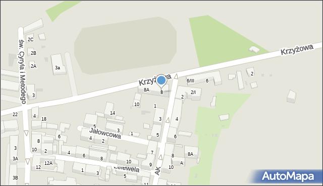 Bytom, Krzyżowa, 8, mapa Bytomia
