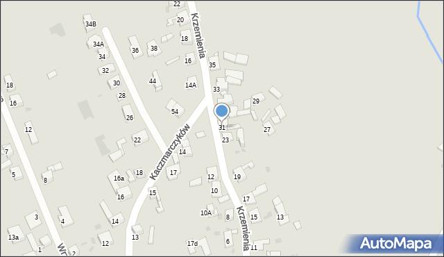 Bytom, Krzemienia, 31, mapa Bytomia