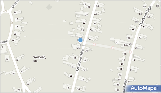 Bytom, Krzyżowa Góra, 23, mapa Bytomia