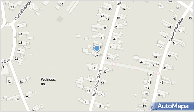 Bytom, Krzyżowa Góra, 25, mapa Bytomia