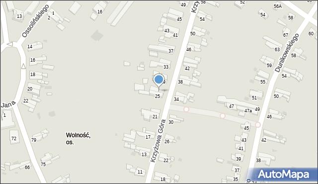 Bytom, Krzyżowa Góra, 27, mapa Bytomia