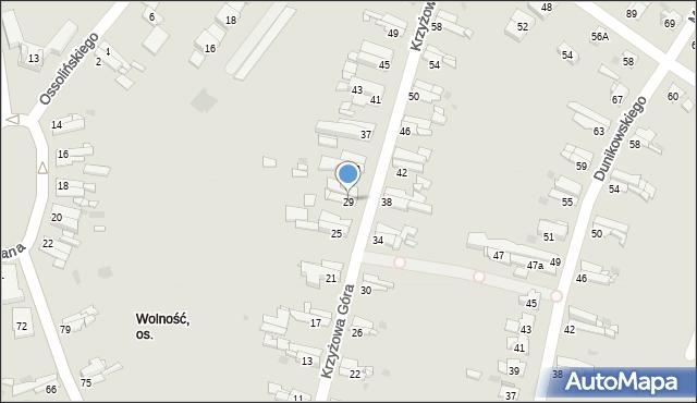 Bytom, Krzyżowa Góra, 29, mapa Bytomia