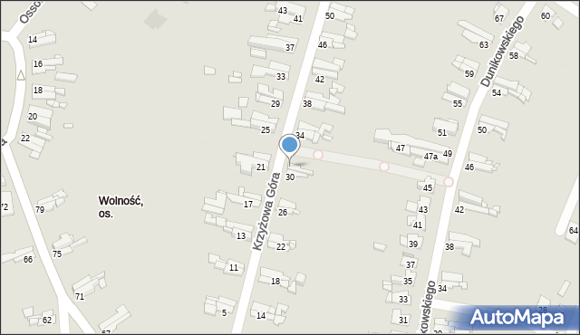 Bytom, Krzyżowa Góra, 32, mapa Bytomia