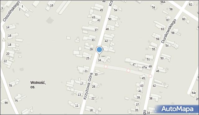 Bytom, Krzyżowa Góra, 36, mapa Bytomia