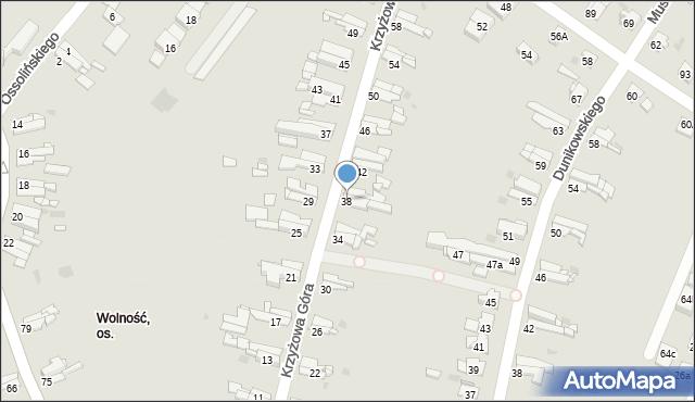 Bytom, Krzyżowa Góra, 38, mapa Bytomia