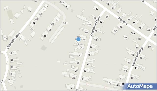 Bytom, Krzyżowa Góra, 43, mapa Bytomia