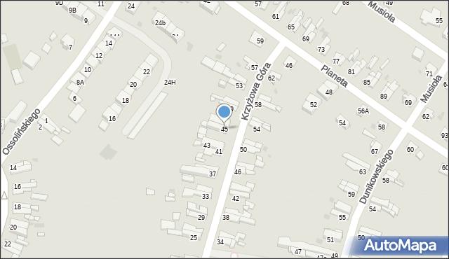 Bytom, Krzyżowa Góra, 45, mapa Bytomia
