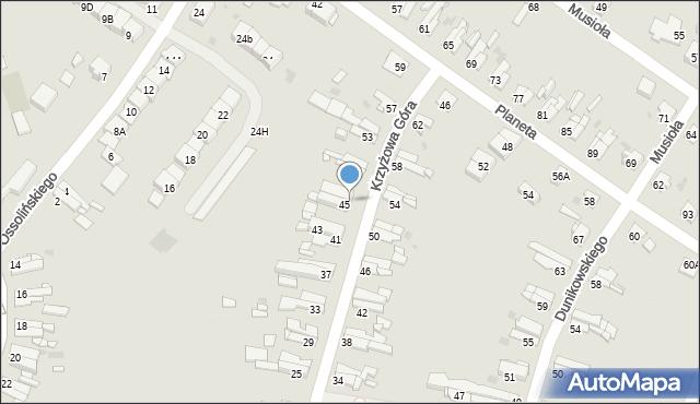 Bytom, Krzyżowa Góra, 47, mapa Bytomia