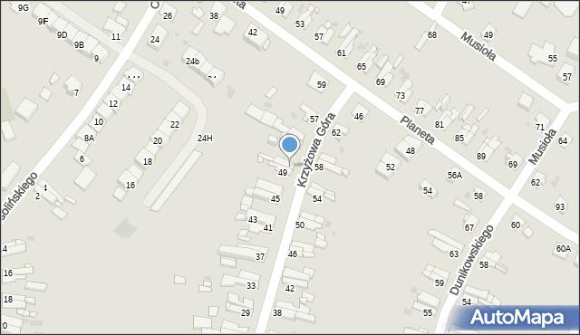 Bytom, Krzyżowa Góra, 51, mapa Bytomia