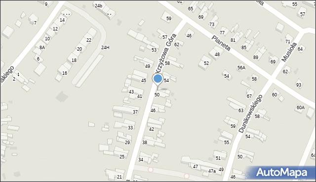 Bytom, Krzyżowa Góra, 52, mapa Bytomia