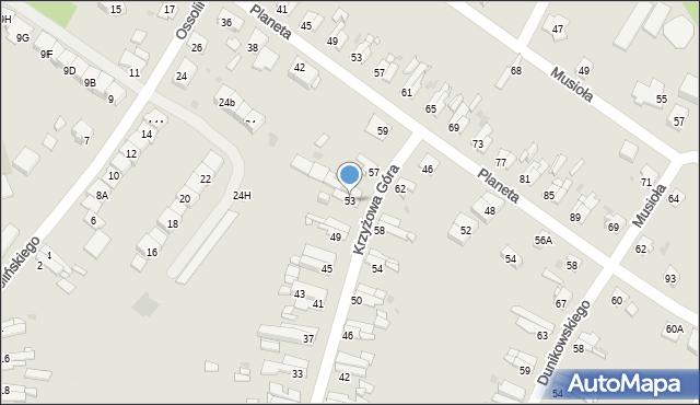 Bytom, Krzyżowa Góra, 53, mapa Bytomia