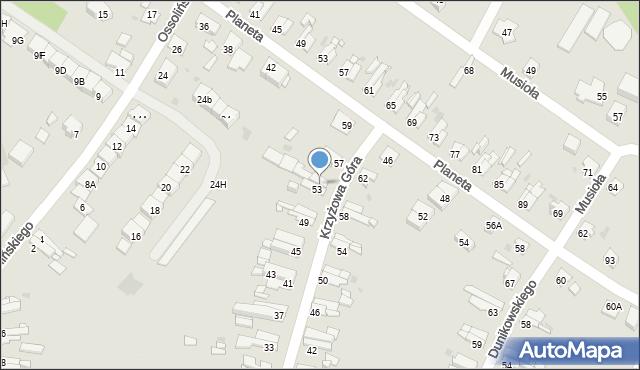 Bytom, Krzyżowa Góra, 55, mapa Bytomia