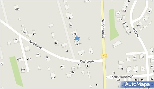Chełm, Krańcowa, 4A, mapa Chełma