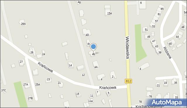 Chełm, Krańcowa, 4b, mapa Chełma