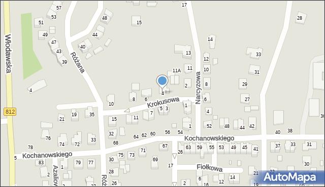 Chełm, Krokusowa, 4, mapa Chełma