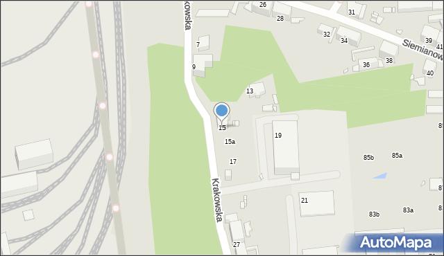 Chorzów, Krakowska, 15, mapa Chorzów