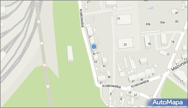 Chorzów, Krakowska, 31, mapa Chorzów