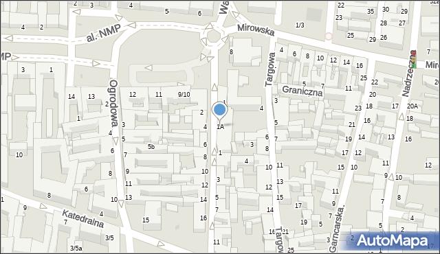 Częstochowa, Krakowska, 1A, mapa Częstochowy