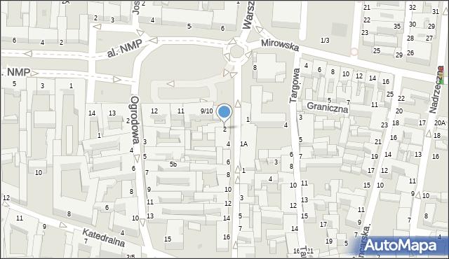 Częstochowa, Krakowska, 2, mapa Częstochowy