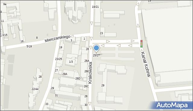 Częstochowa, Krakowska, 25/27, mapa Częstochowy