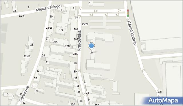 Częstochowa, Krakowska, 29, mapa Częstochowy
