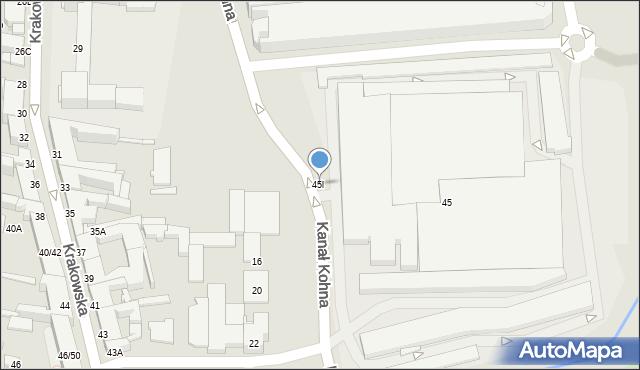 Częstochowa, Krakowska, 45l, mapa Częstochowy