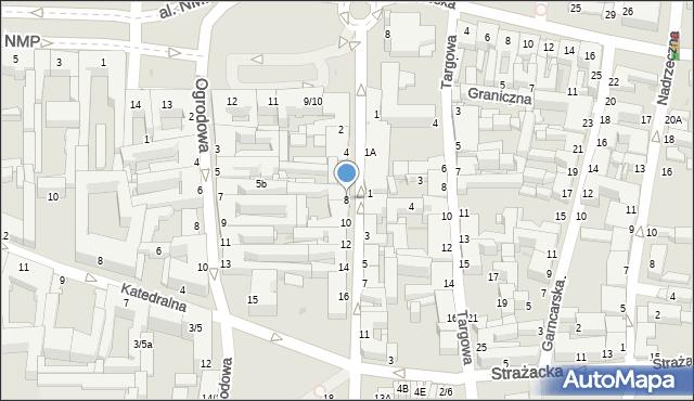 Częstochowa, Krakowska, 8, mapa Częstochowy