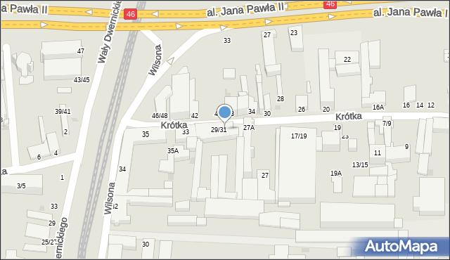 Częstochowa, Krótka, 1, mapa Częstochowy