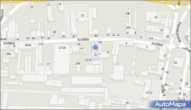 Częstochowa, Krótka, 11, mapa Częstochowy