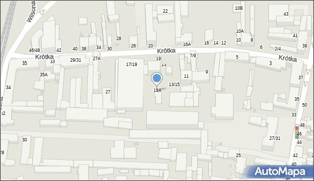 Częstochowa, Krótka, 19A, mapa Częstochowy