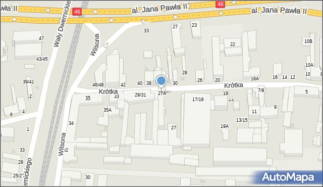 Częstochowa, Krótka, 27A, mapa Częstochowy