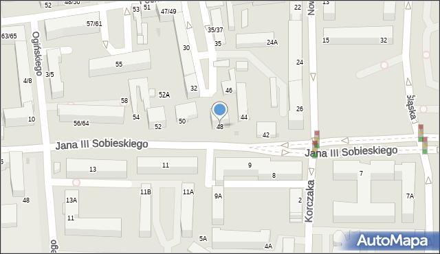 Częstochowa, Króla Jana III Sobieskiego, 48, mapa Częstochowy