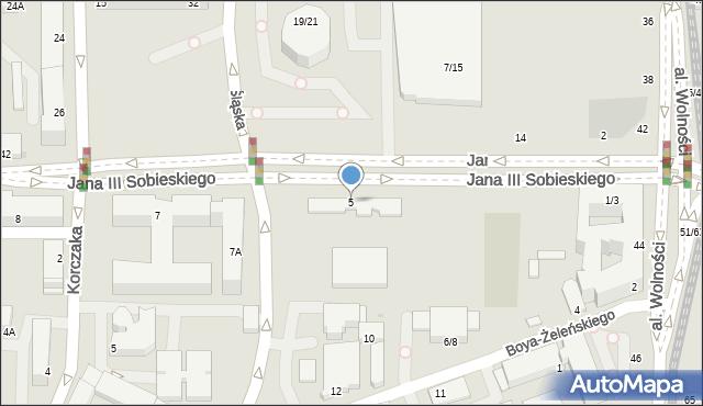 Częstochowa, Króla Jana III Sobieskiego, 5, mapa Częstochowy