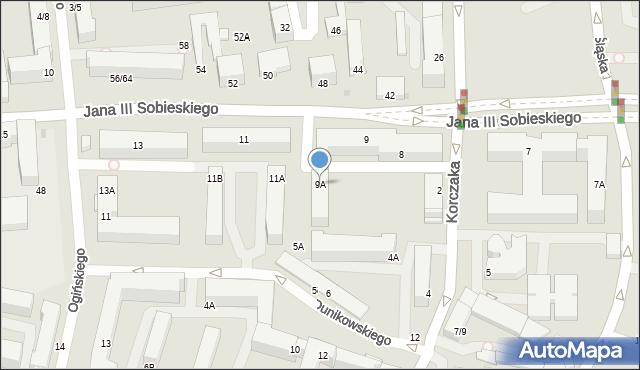 Częstochowa, Króla Jana III Sobieskiego, 9A, mapa Częstochowy