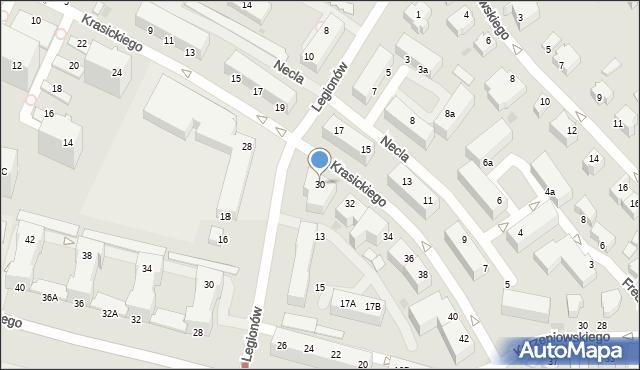 Gdynia, Krasickiego Ignacego, bp., 30, mapa Gdyni