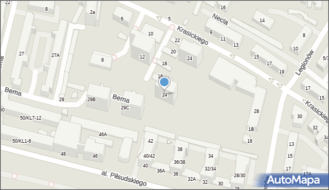 Gdynia, Krasickiego Ignacego, bp., 14, mapa Gdyni