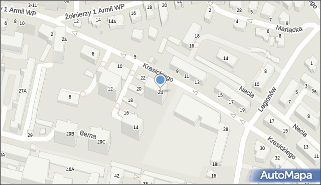 Gdynia, Krasickiego Ignacego, bp., 24, mapa Gdyni