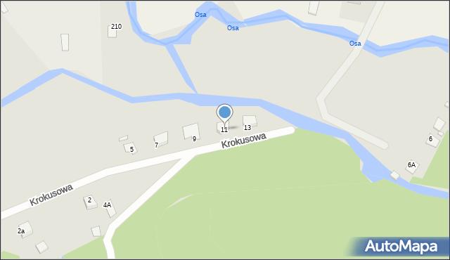 Grudziądz, Krokusowa, 11, mapa Grudziądza