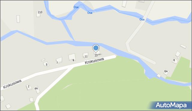 Grudziądz, Krokusowa, 13, mapa Grudziądza