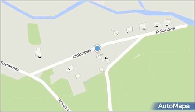 Grudziądz, Krokusowa, 4, mapa Grudziądza