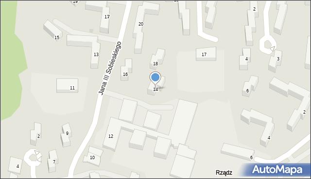 Grudziądz, Króla Jana III Sobieskiego, 14, mapa Grudziądza