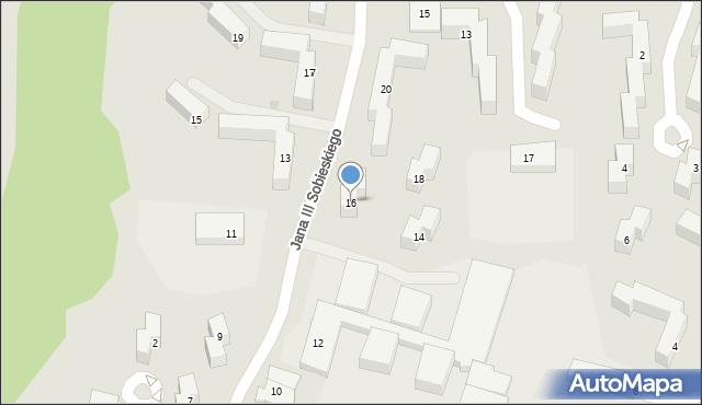Grudziądz, Króla Jana III Sobieskiego, 16, mapa Grudziądza