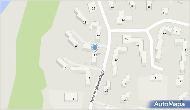 Grudziądz, Króla Jana III Sobieskiego, 17, mapa Grudziądza