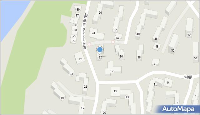 Grudziądz, Króla Jana III Sobieskiego, 22, mapa Grudziądza