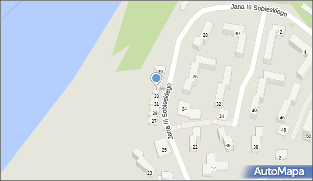 Grudziądz, Króla Jana III Sobieskiego, 35, mapa Grudziądza
