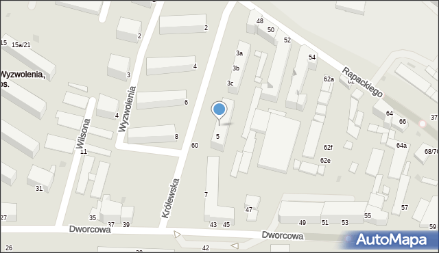 Grudziądz, Królewska, 5b, mapa Grudziądza