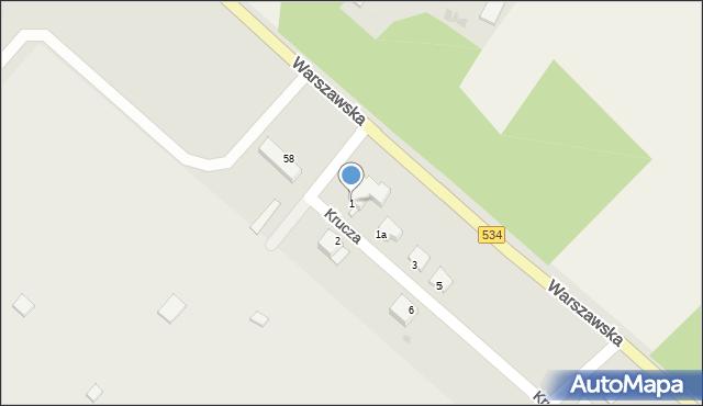 Grudziądz, Krucza, 1, mapa Grudziądza